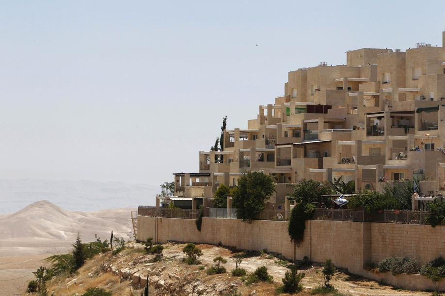 Apartments in the West Bank settlement of Maale Adumim near Jerusalem.